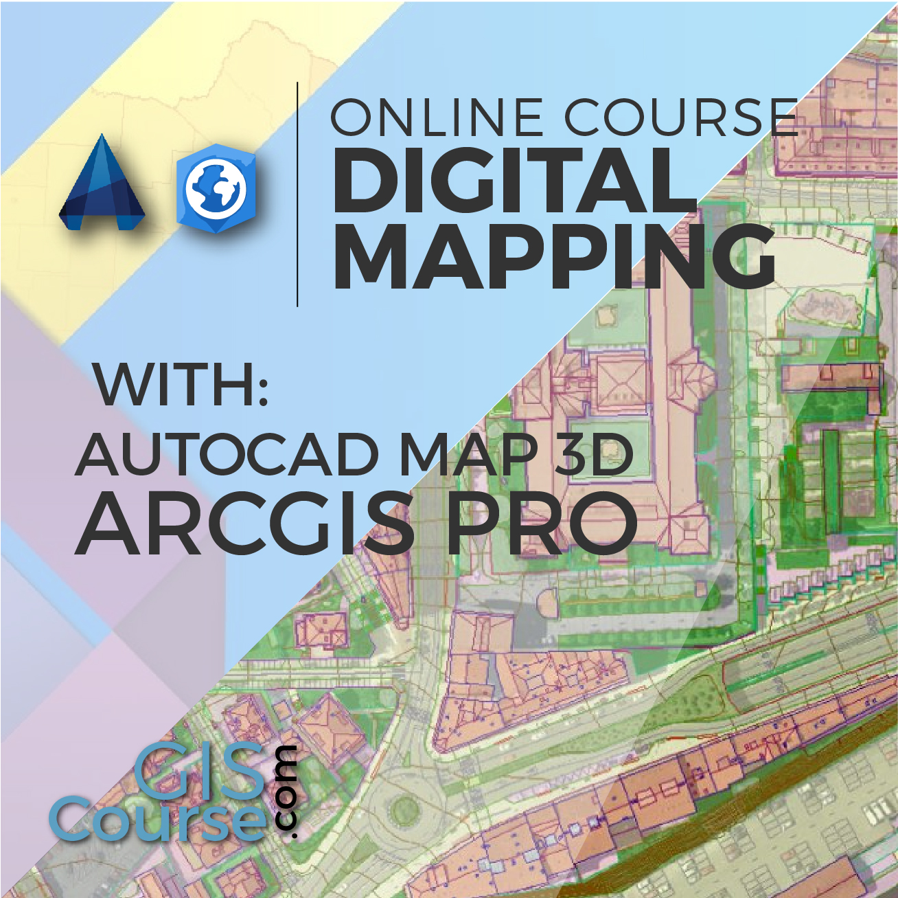 Digital mapping with arcgis pro and autocad map 3d gis course online course arcgis pro digital mapping sciox Images