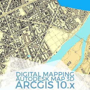Digital Mapping AutoDesk Map 3d ArcGIS 10
