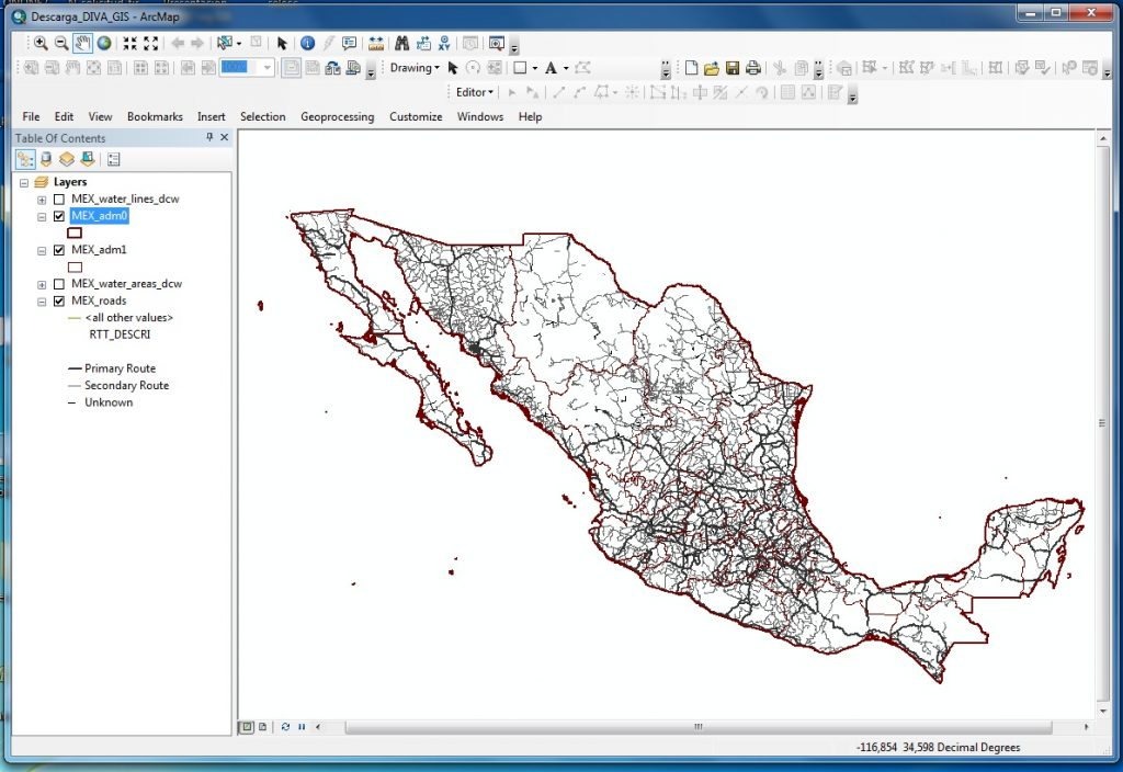 Download free basic cartography from around the world_carreteras_mexico