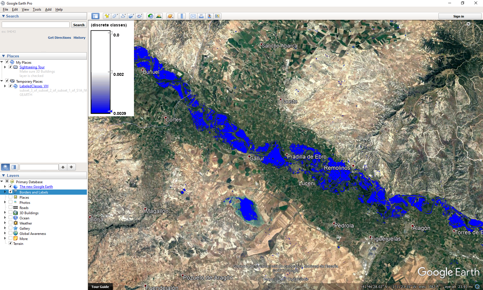 Mapping floods using open source data and software