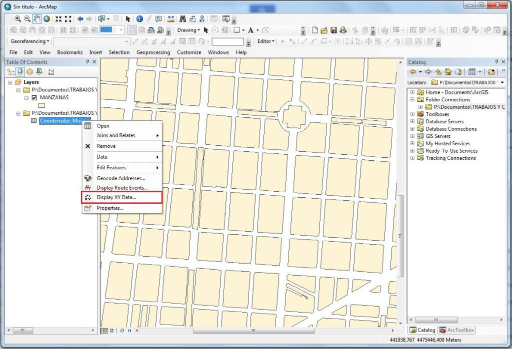 How to create a point layer from X, Y coordinates using ArcGIS_arcgis_Display_xy_data