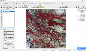 Simple methodology for water data extraction using QGIS and