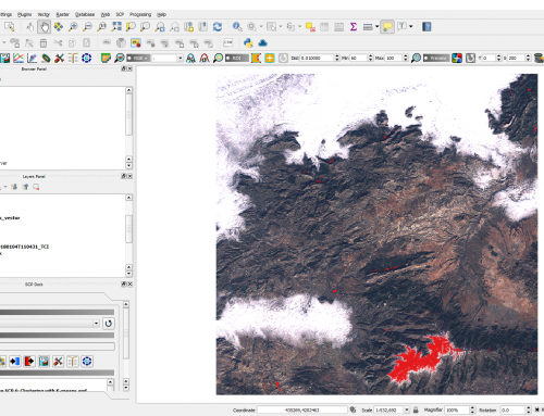 Delineate snow using Normalized Difference Snow Index, Sentinel 2 and QGIS