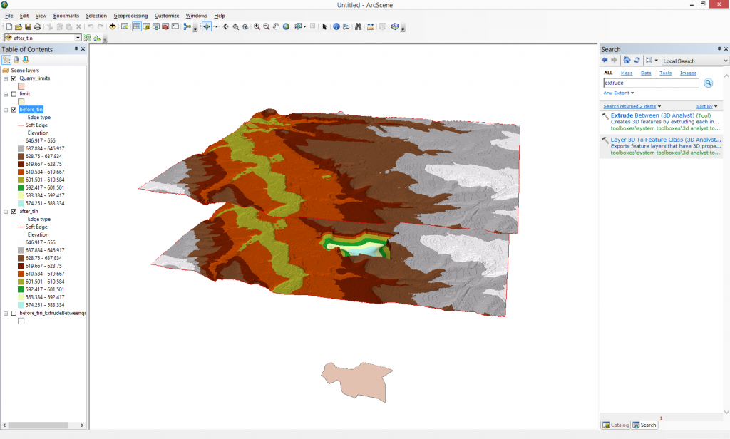 Use ArcGIS tools for 3D mapping – How to fill space between