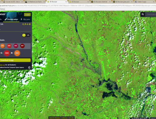 EO Browser a web tool for Earth observations