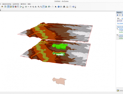 Use ArcGIS tools for 3D mapping – How to fill space between layers?