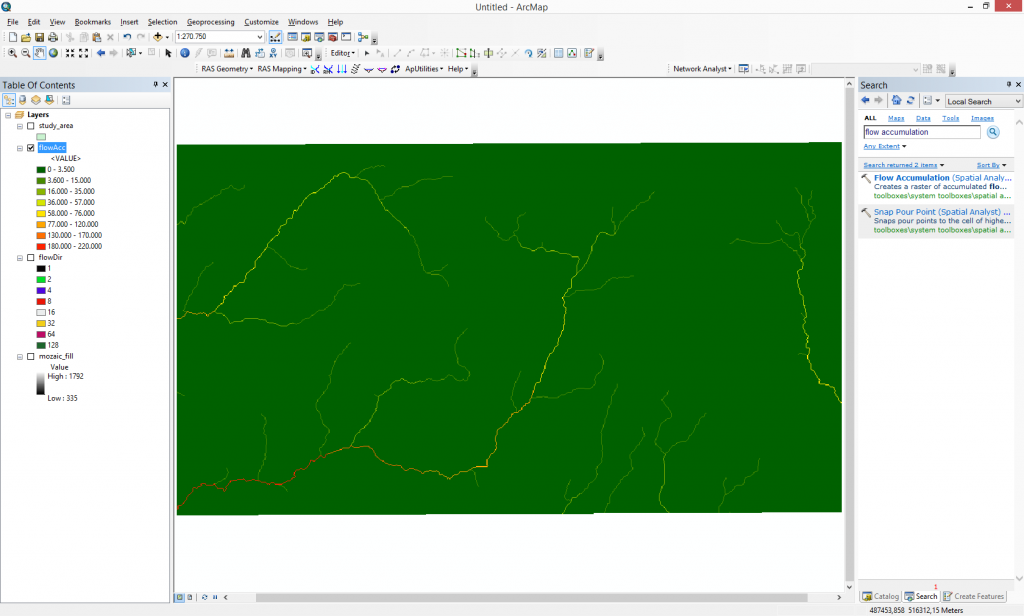 How to determine a contributing area/catchment above a predefined
