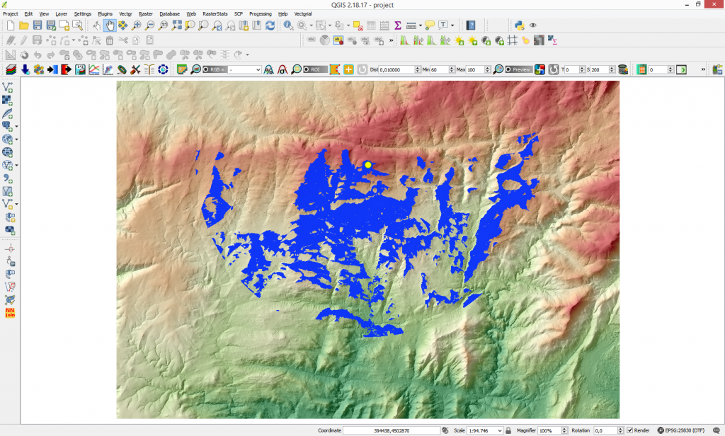 how to create a dem in qgis