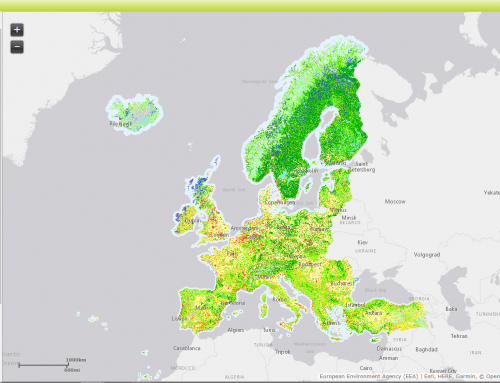 Free land cover data from Corine Land Cover programme