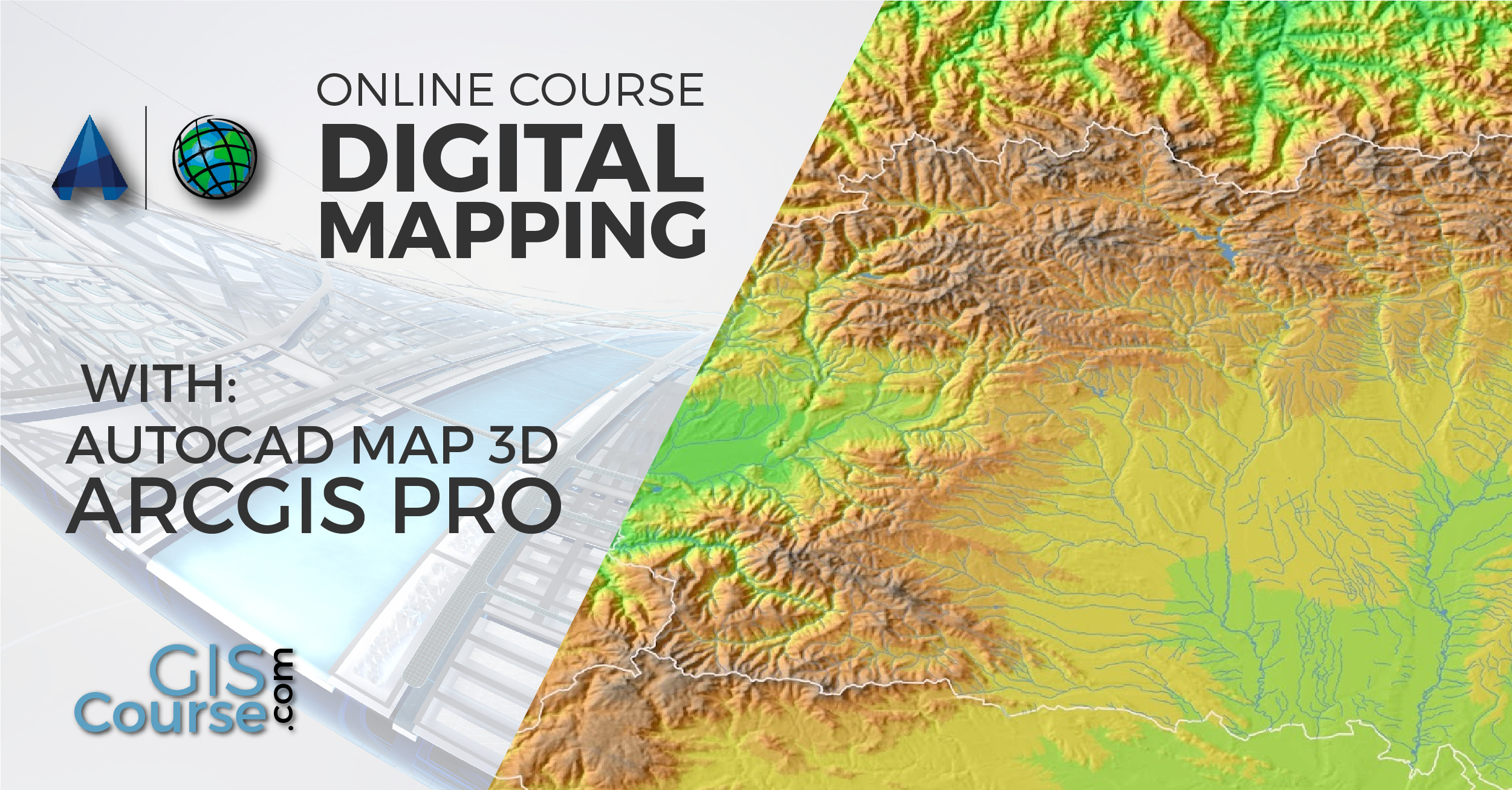 Map X.Digital Mapping With Arcgis 10 X And Autocad Map 3d Online Gis