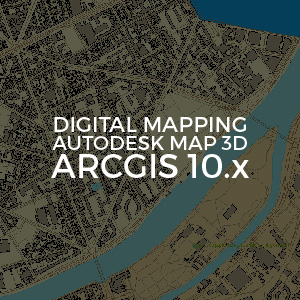 Digital Mapping AutoDesk Map 3D ArcGIS 10 inv