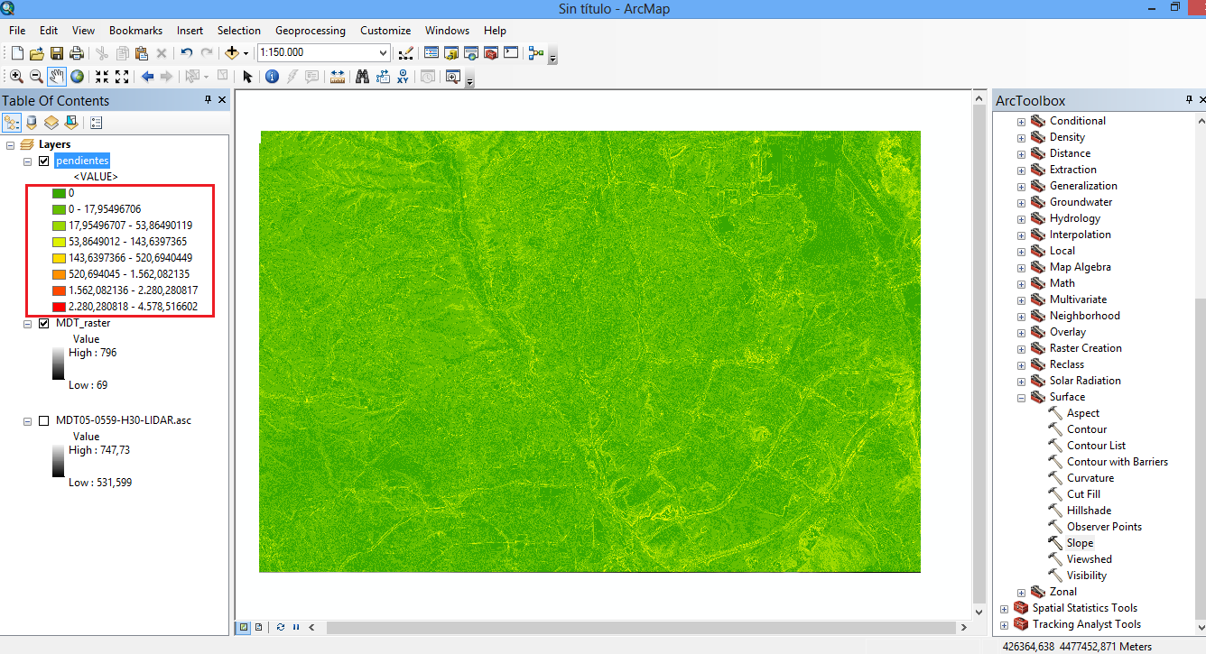 How to create a slope Map from a Digital Terrain Model in ArcGIS