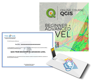 QGIS Beginner Advanced Level Certificate and USB
