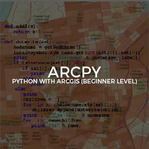 ArcPy Python ArcGIS Beginner Level inv
