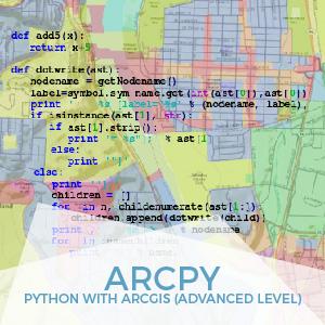 ArcPy Python en ArcGIS Advanced Level