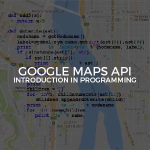 Google Maps Api programming inv