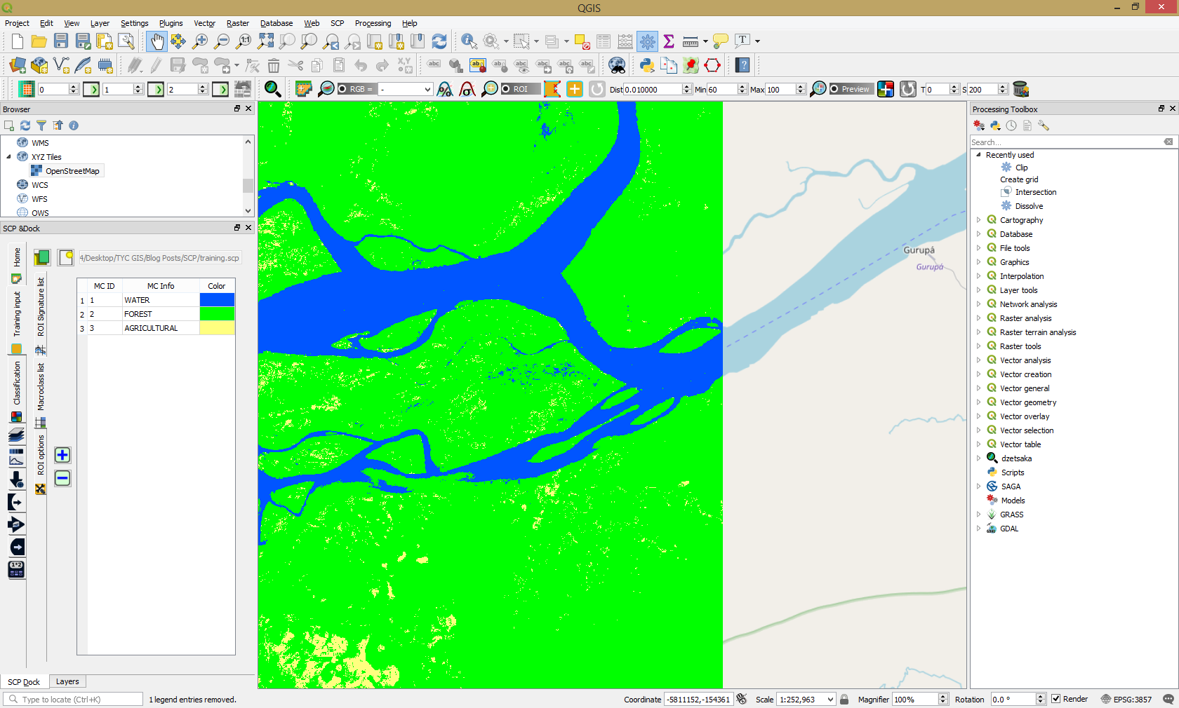 Using Semi-Automatic Classification Plugin with QGIS 3 0