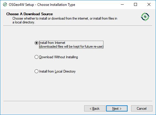 Install QGIS through OSGeo4W