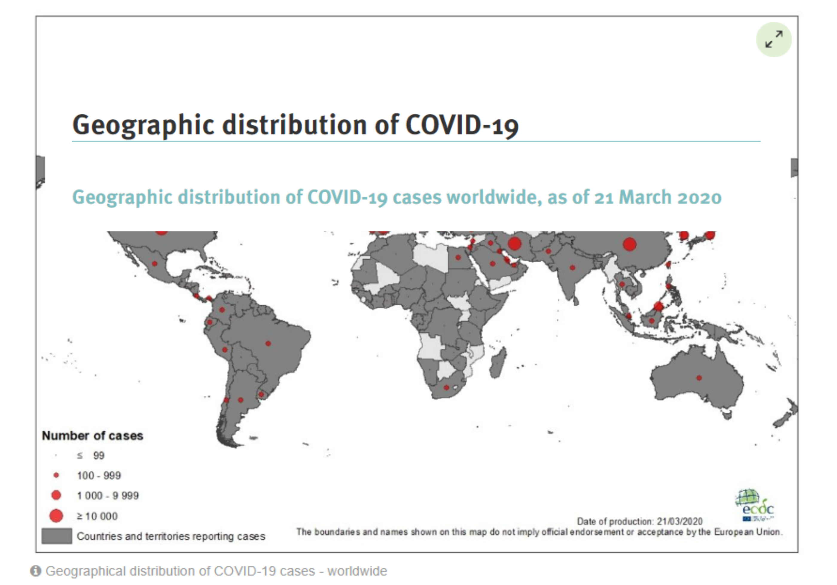 Cases worldwide covid