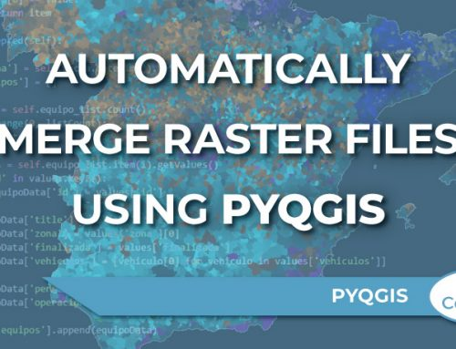 Automatically merge raster files using PyQGIS