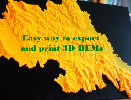 Easy way to export and print 3D DEMs