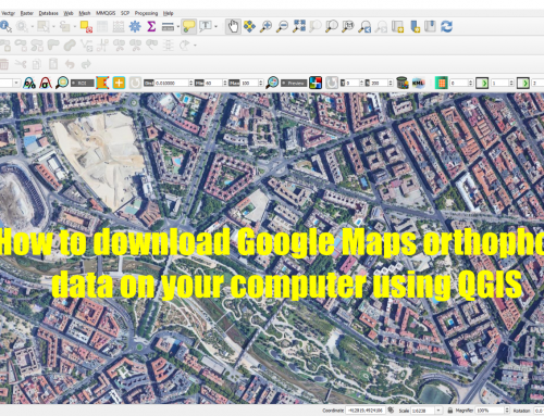 How to download Google Maps orthophoto data on your computer using QGIS